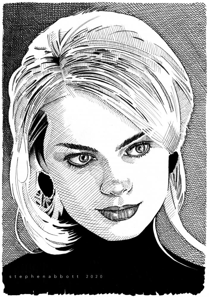 Margot Robbie par Stefanosart
